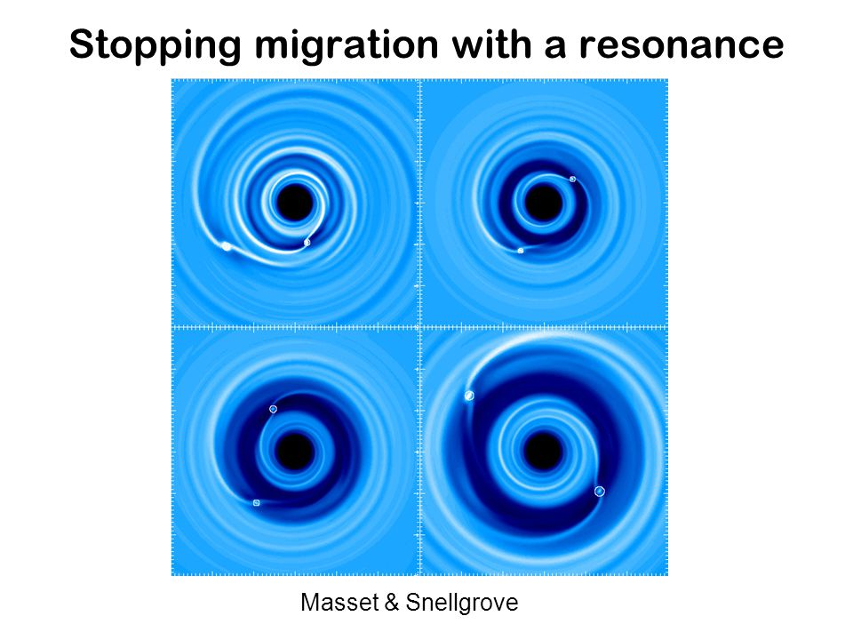 Stopping migration with a resonance Masset & Snellgrove