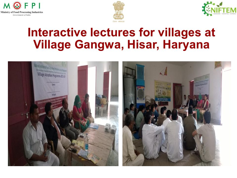 Interactive lectures for villages at Village Gangwa, Hisar, Haryana
