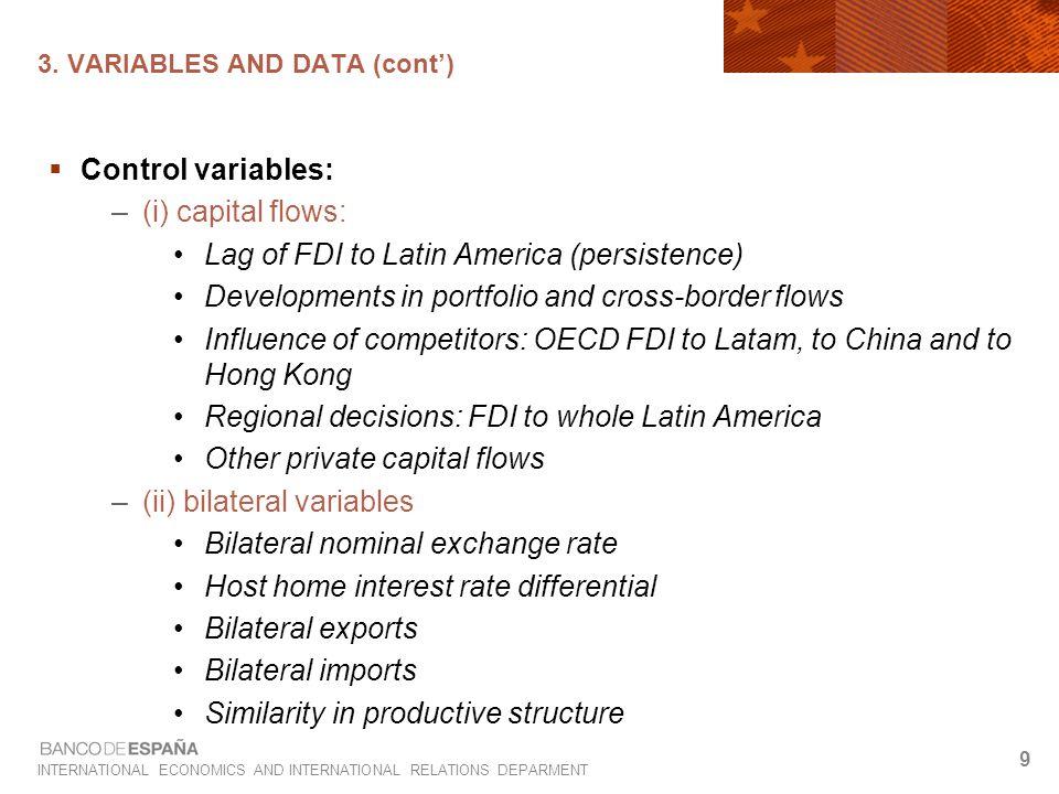 INTERNATIONAL ECONOMICS AND INTERNATIONAL RELATIONS DEPARMENT 10 3.