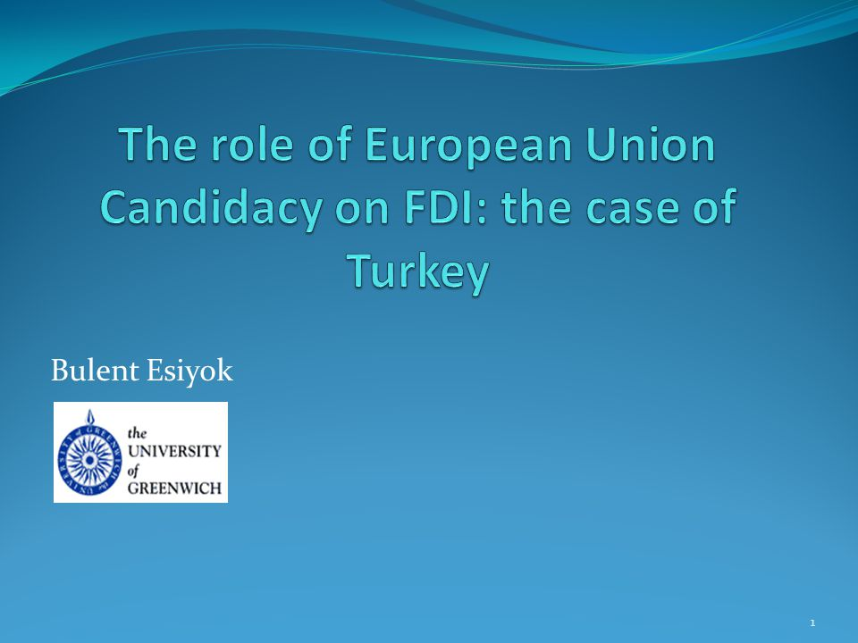 Introduction An Overview of Inward FDI in Turkey Previous Empirical Literature: EU effect on FDI in Turkey Research Question and Contributi0n to the Literature Conceptual Framework Econometric Methodology Summary of Results Policy Implications.
