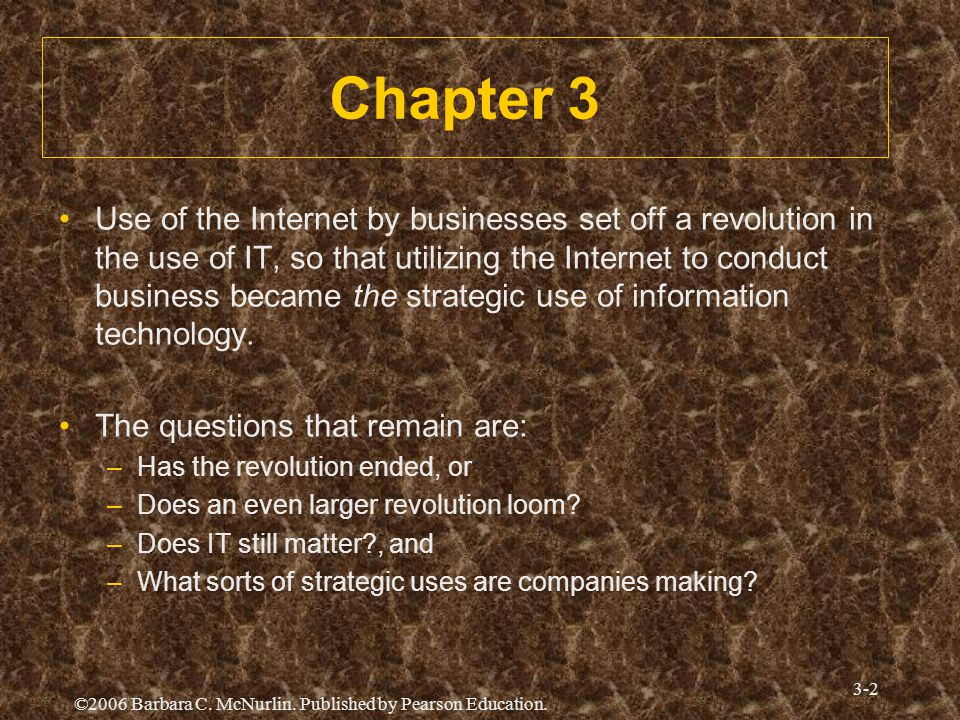 "Presentation ""Strategic Uses of Information Technology Chapter 3 ..."