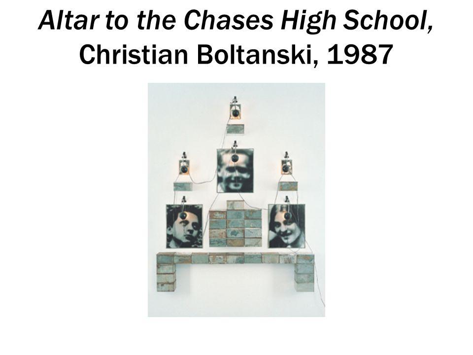 Altar to the Chases High School, Christian Boltanski, 1987