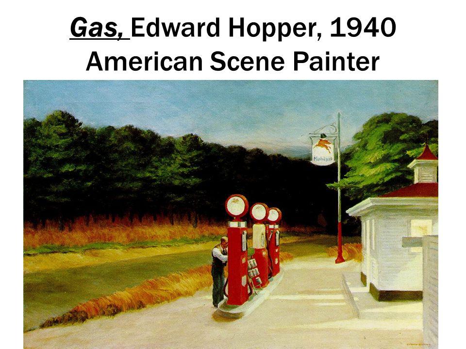 Gas, Edward Hopper, 1940 American Scene Painter