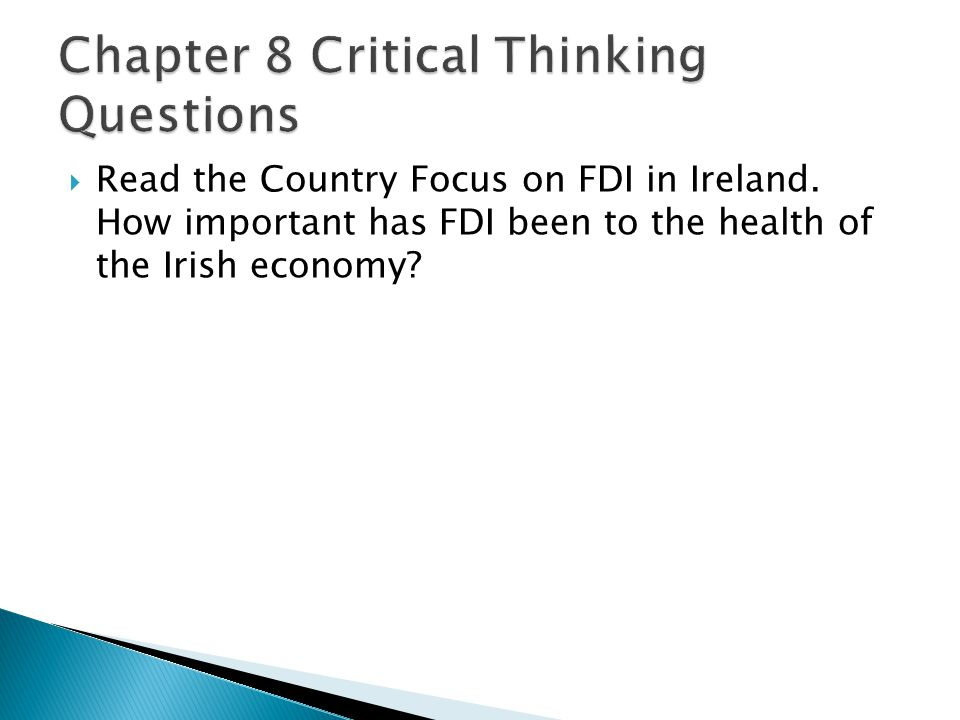  Read the Country Focus on FDI in Ireland.