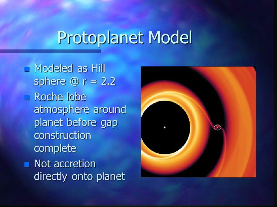 Protoplanet Model n Nelson et al.