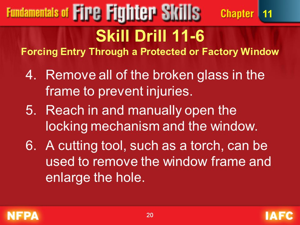 20 4.Remove all of the broken glass in the frame to prevent injuries.