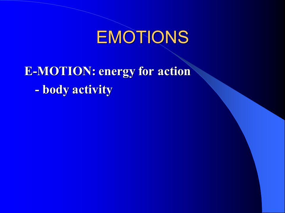 EMOTIONS - body activity