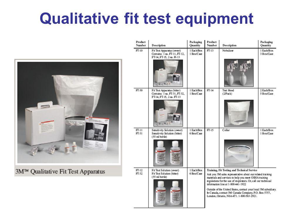 27 Qualitative fit test equipment