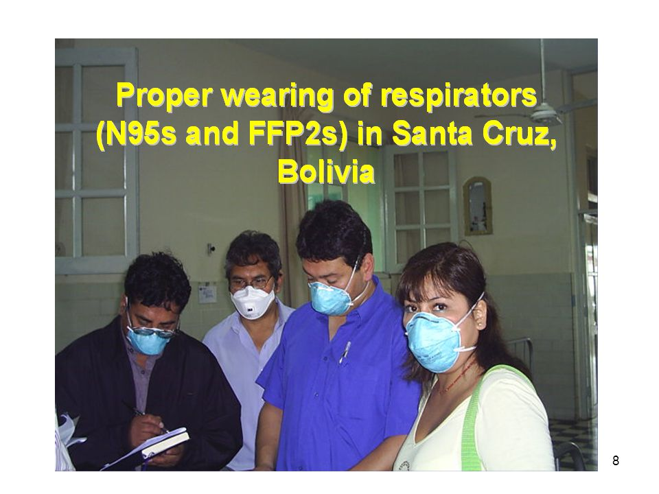 9 Surgical masks (yes for patients)
