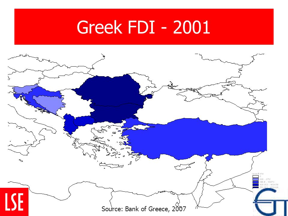 Greek FDI - 2001 Source: Bank of Greece, 2007