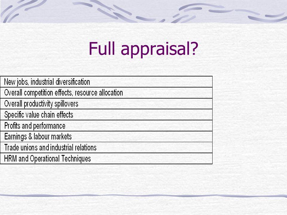 Full appraisal