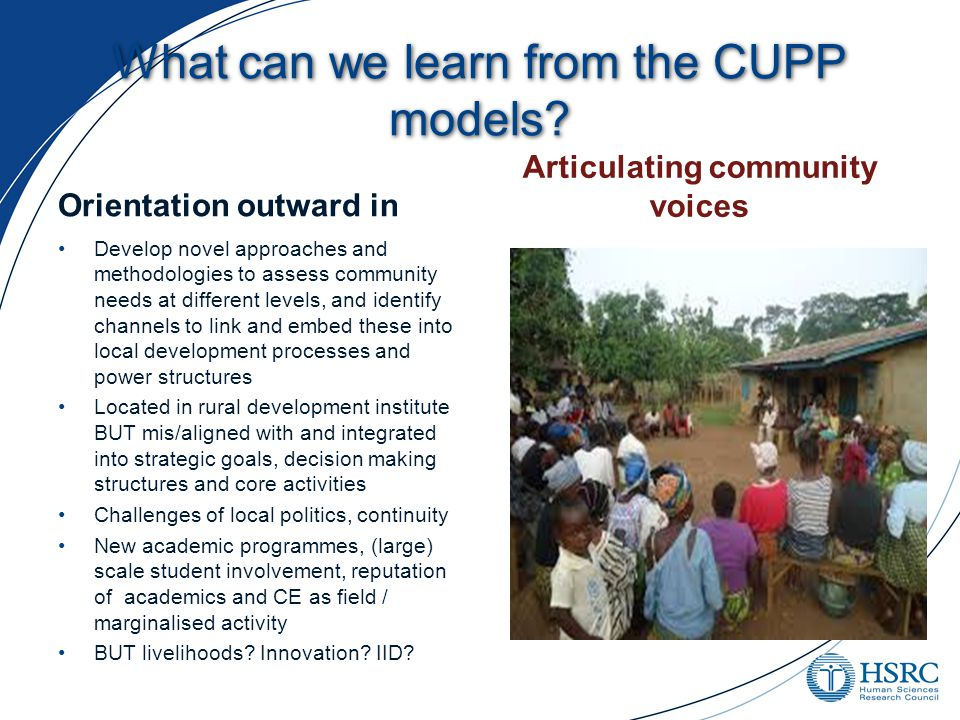 What can we learn from the CUPP models.