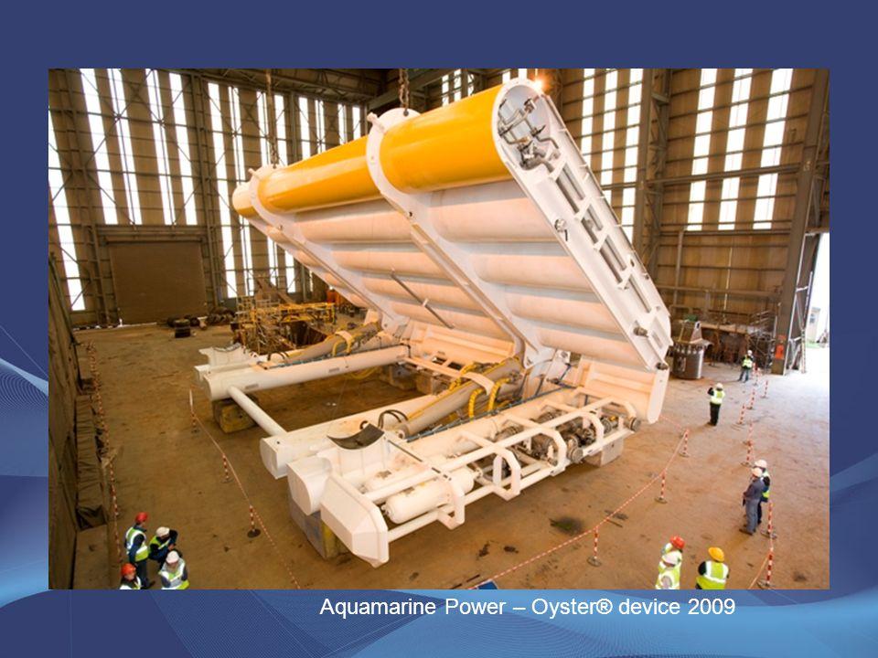 Aquamarine Power – Oyster® device 2009