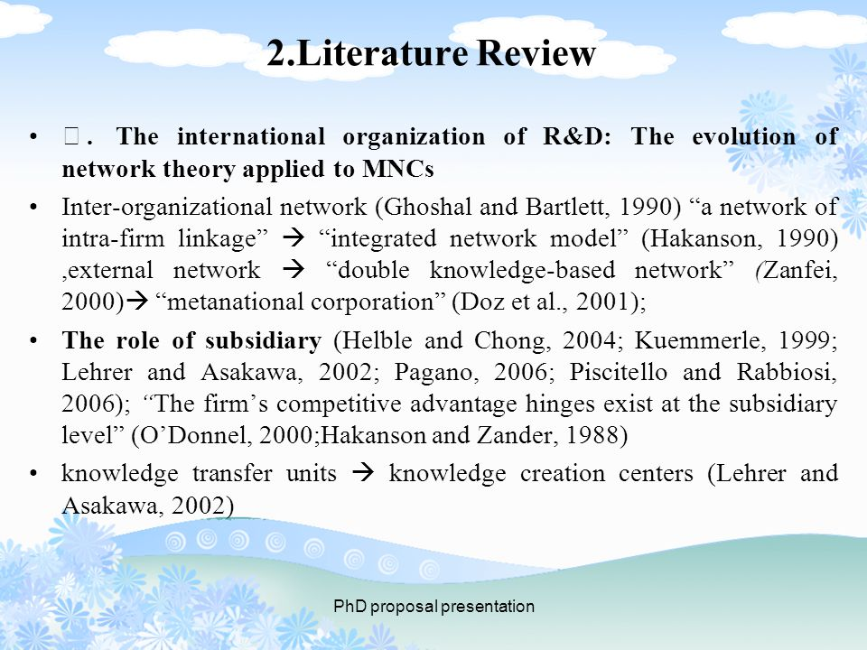 2.Literature Review Ⅱ.