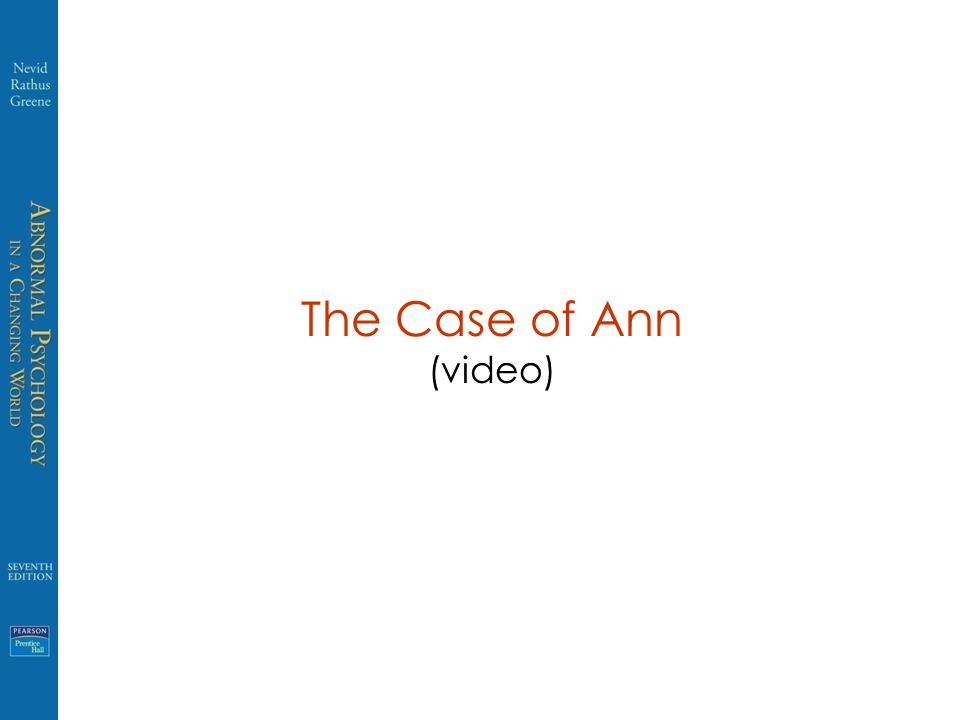 The Case of Ann (video)