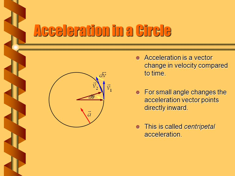 Centripetal Acceleration  Uniform circular motion takes place with a constant speed but changing velocity direction.