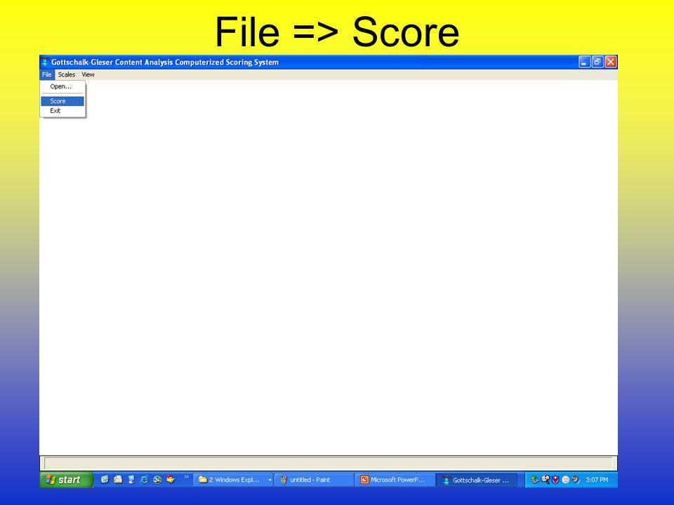 File => Score