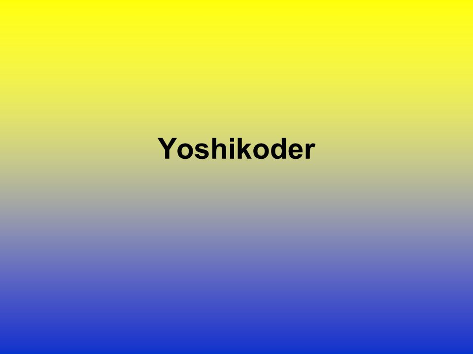 Yoshikoder