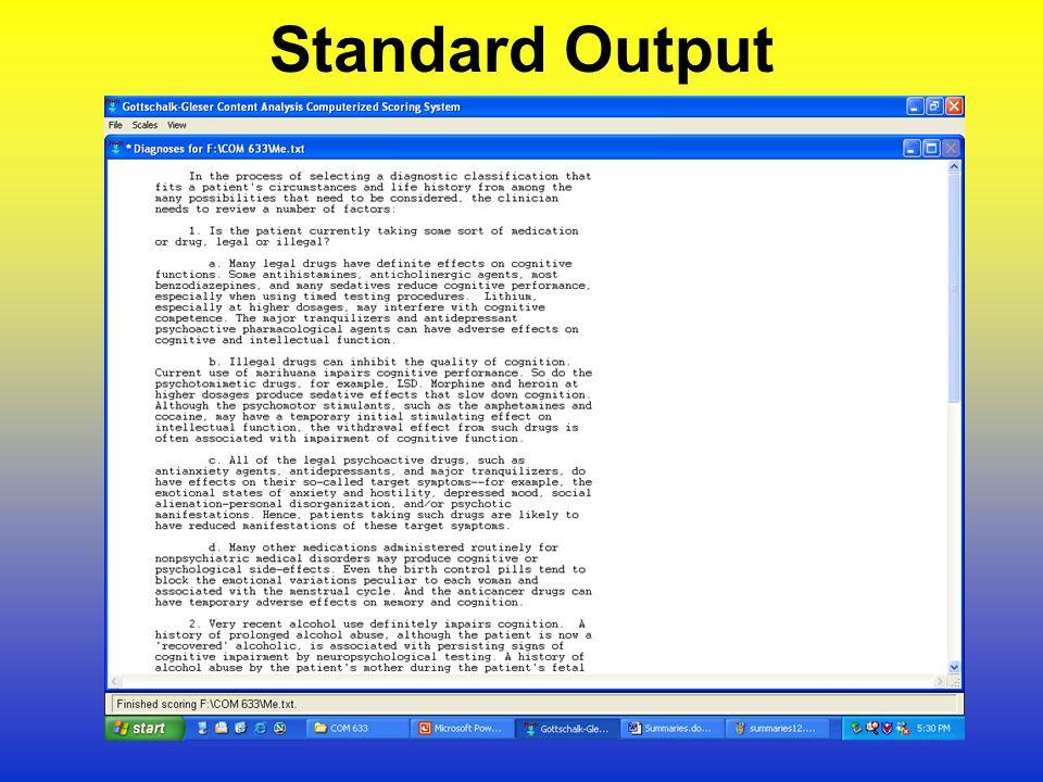 Standard Output