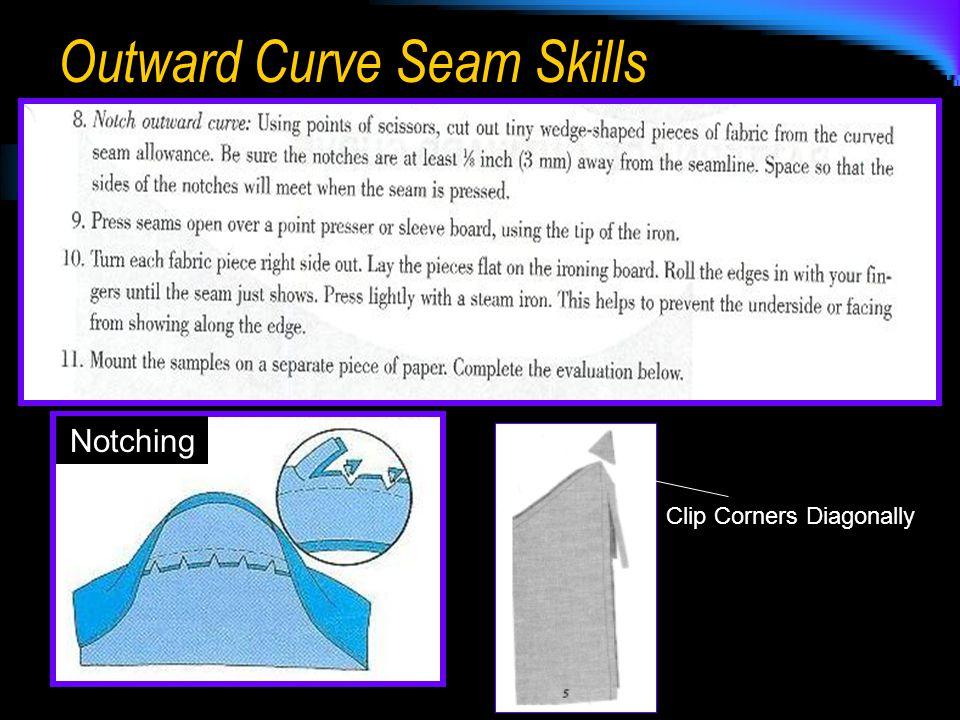 Outward Curve Seam Skills Notching Clip Corners Diagonally