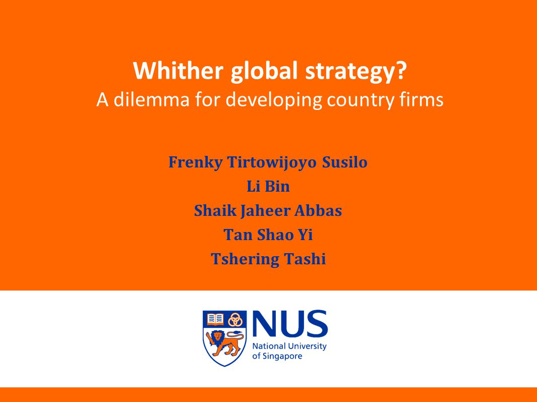 Whither global strategy.