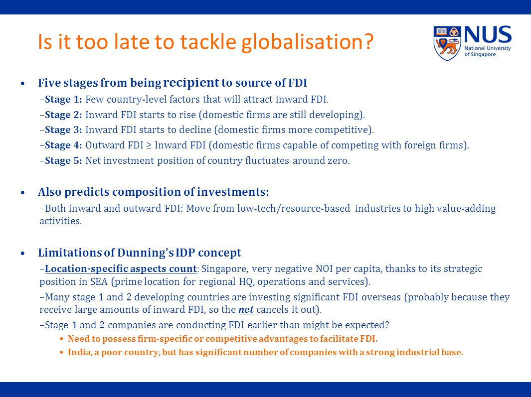 Is it too late to tackle globalisation.
