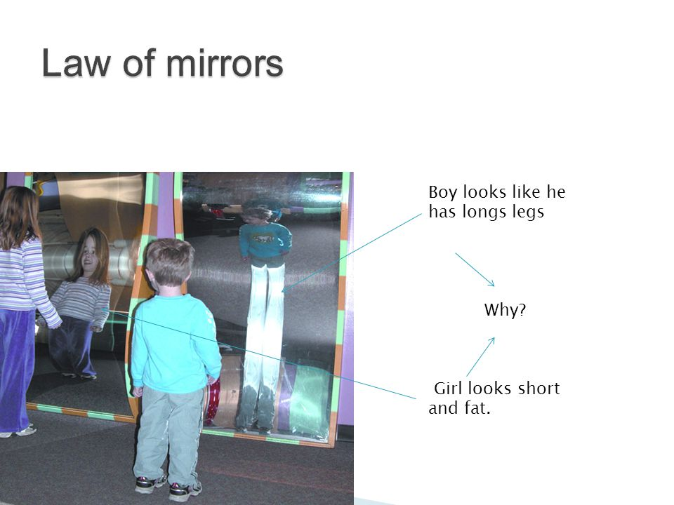 Boy looks like he has longs legs Girl looks short and fat. Why?