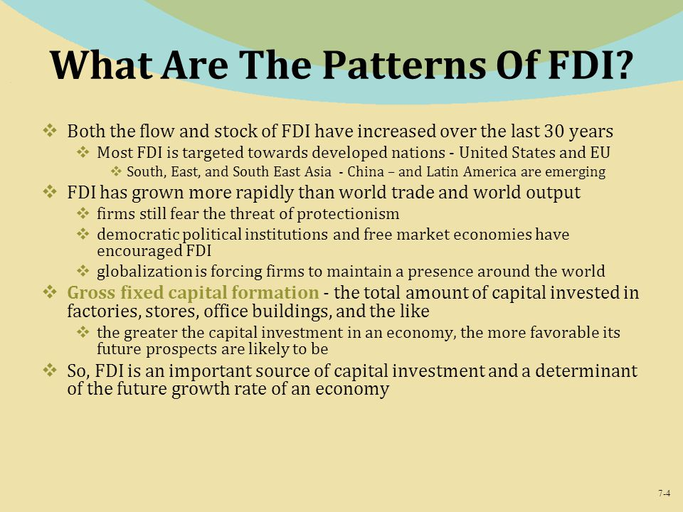 7-4 What Are The Patterns Of FDI.
