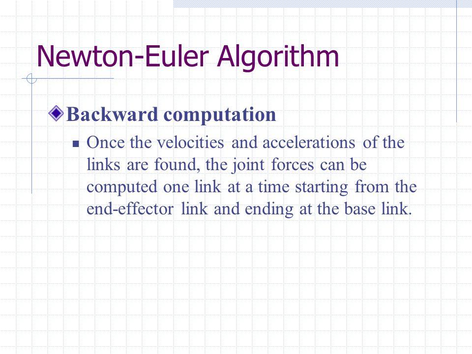 Manipulator Dynamics in Cartesian Space Joint space formulation Cartesian space formulation
