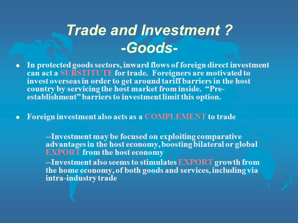 Trade and Investment .