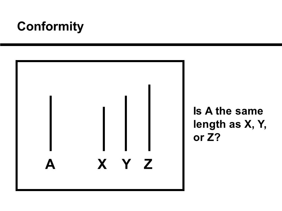 Conformity Is A the same length as X, Y, or Z AXYZ