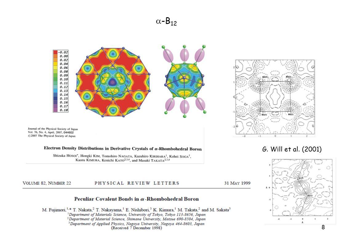 8  -B 12 G. Will et al. (2001)