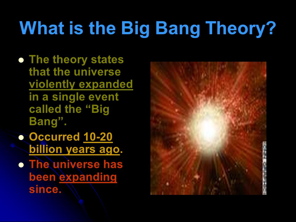 What is the Big Bang Theory.