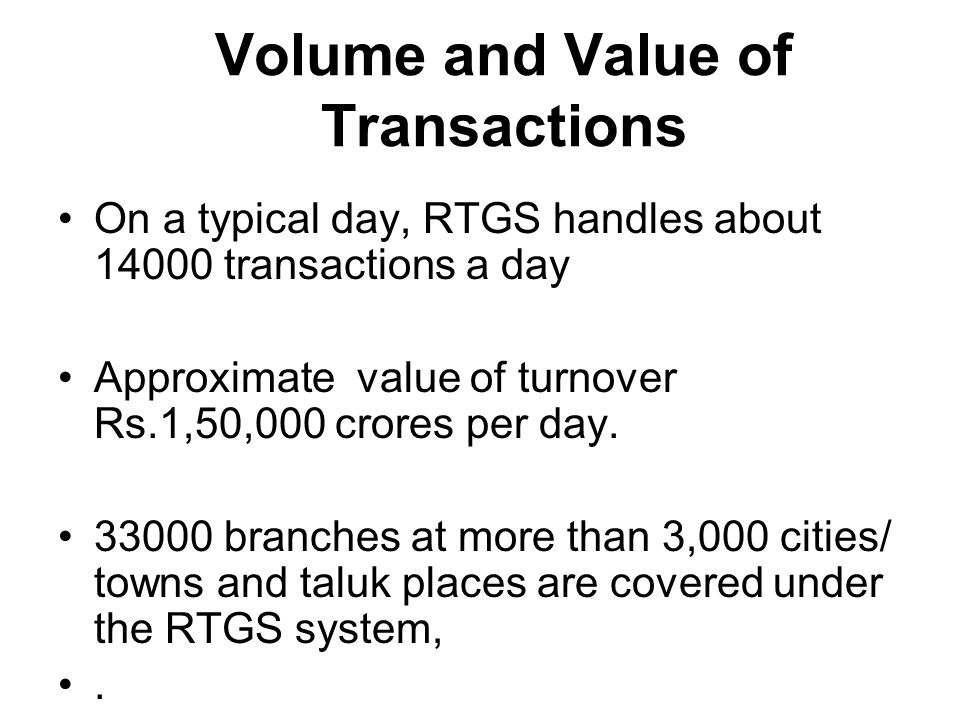 Processing by Branch Official in P-Connect Processing by Branch Official in P-Connect Authorizing By officer at Branch Authorizing By officer at Branch Updating in CBS Updating in CBS HO RTGS ops HO RTGS ops PI (Participatory Interface) Thru P- Connect Outwards Inwards Flow of RTGS Transactions RBI RTGS Payment Gateway RBI RTGS Payment Gateway Bank-1 Settlement A/c Bank-2 Settlement A/c Bank-3 Settlement A/c PI (Bank-1) PI (Bank-1) PI (Bank-2) PI (Bank-3) Host (Bank-1) Host (Bank-2) Host (Bank-3)