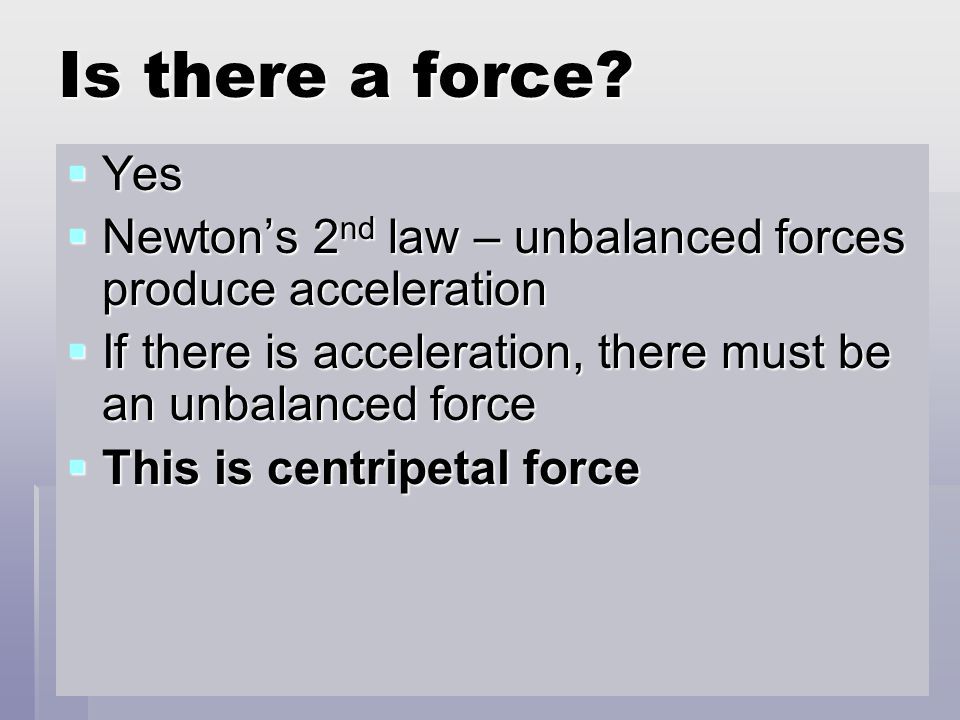 Is there a force.