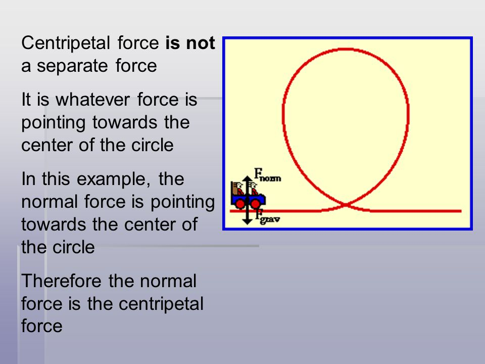 What is supplying the centripetal force.