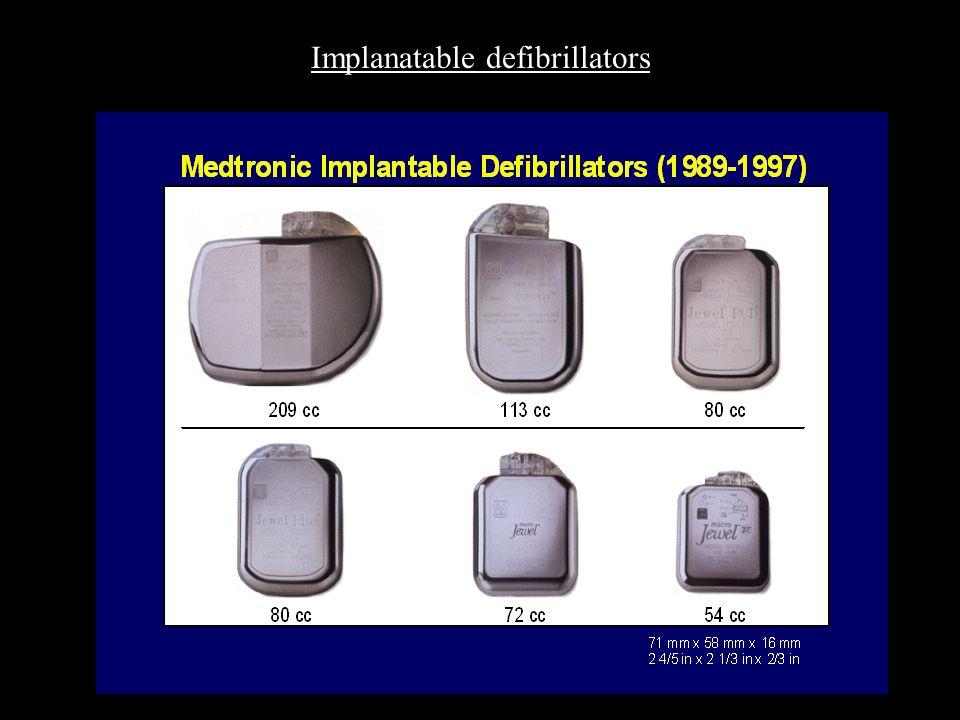 Implanatable defibrillators