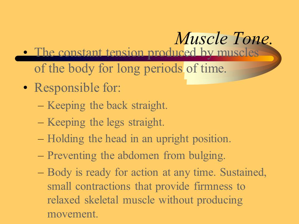 Tone. Muscles are never totally relaxed.