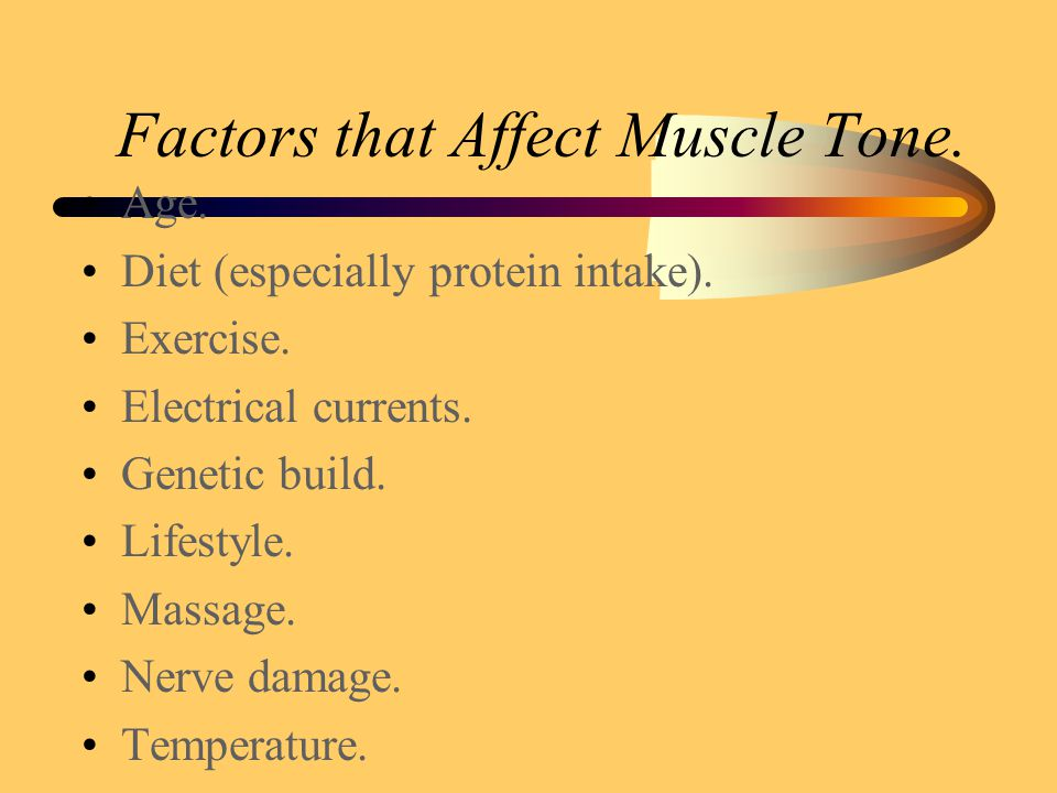 Muscle Tone. The constant tension produced by muscles of the body for long periods of time.