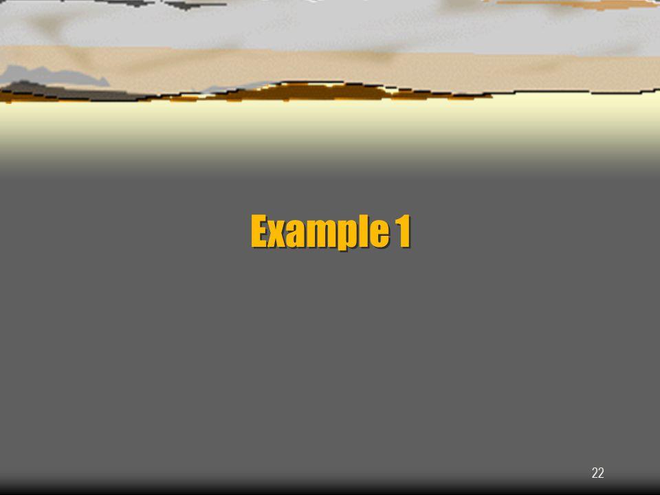 22 Example 1