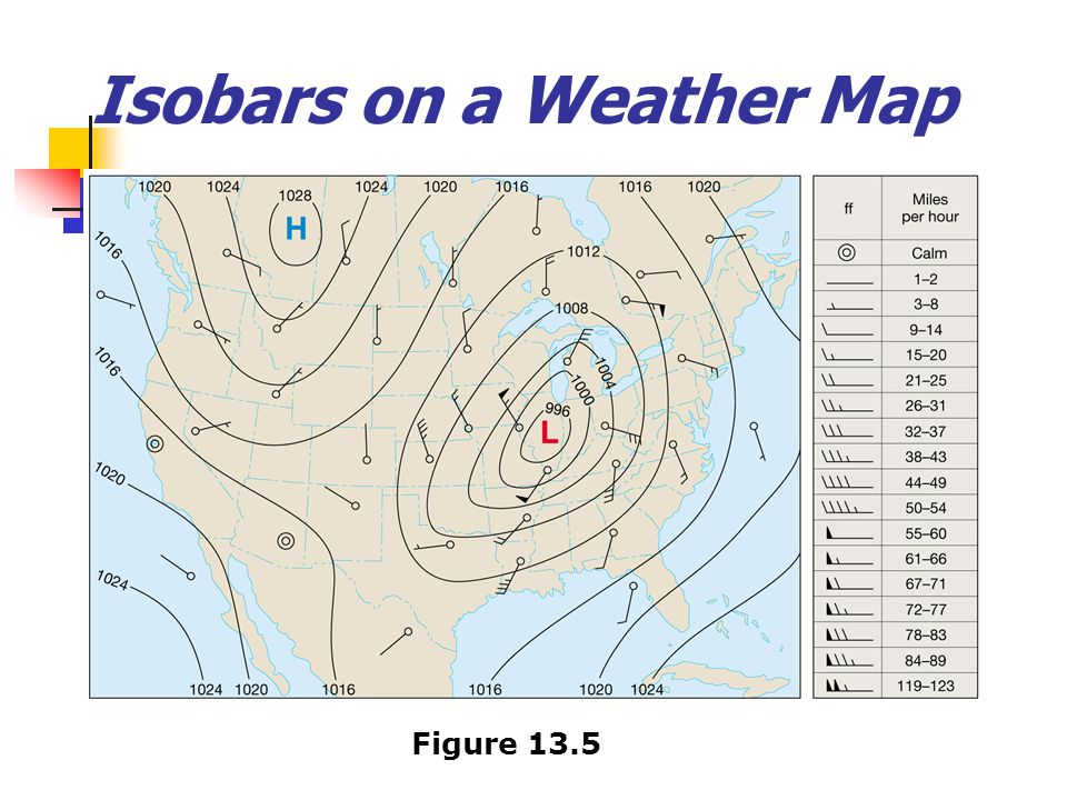 Isobars on a Weather Map Figure 13.5