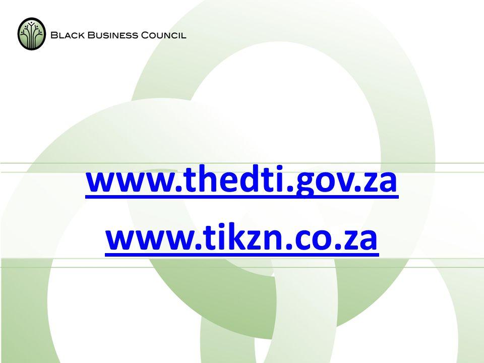 www.thedti.gov.za www.tikzn.co.za
