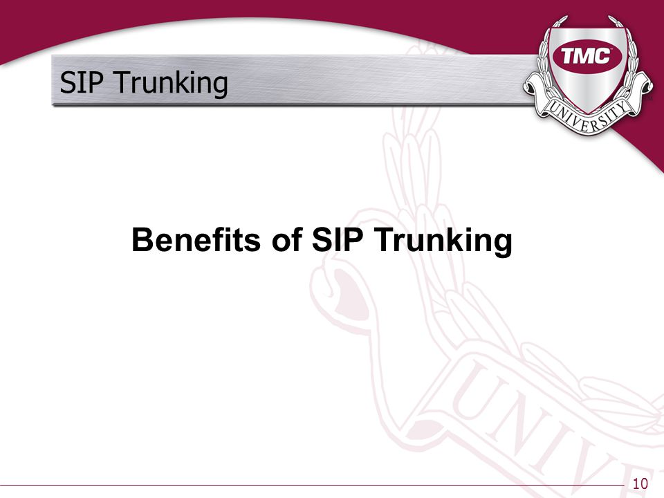10 SIP Trunking Benefits of SIP Trunking