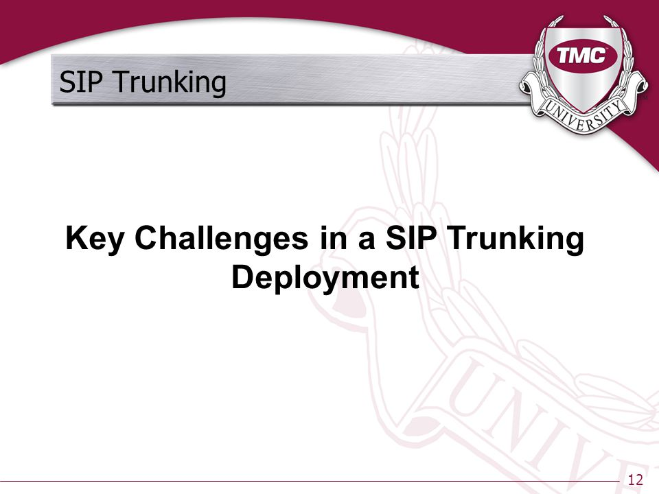 12 SIP Trunking Key Challenges in a SIP Trunking Deployment