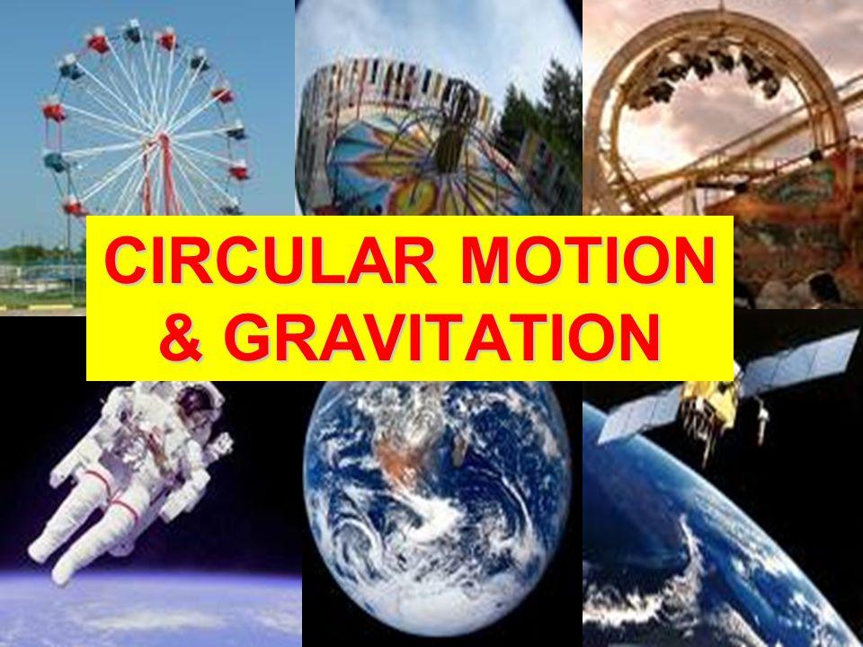 CIRCULAR MOTION & GRAVITATION