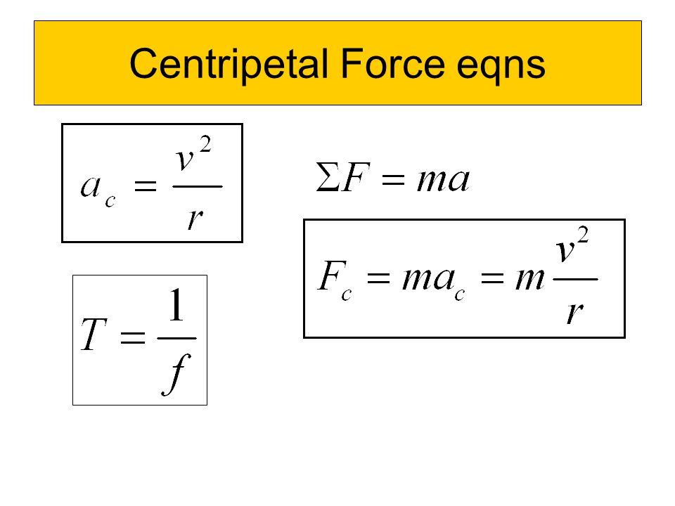 Centripetal Force eqns