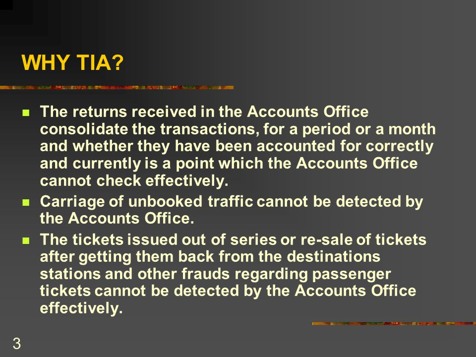 4 CONT; The frauds committed by the staff in the the booking and accountal of merchandise traffic by manipulation of initial records cannot be detected by the Accounts Office.