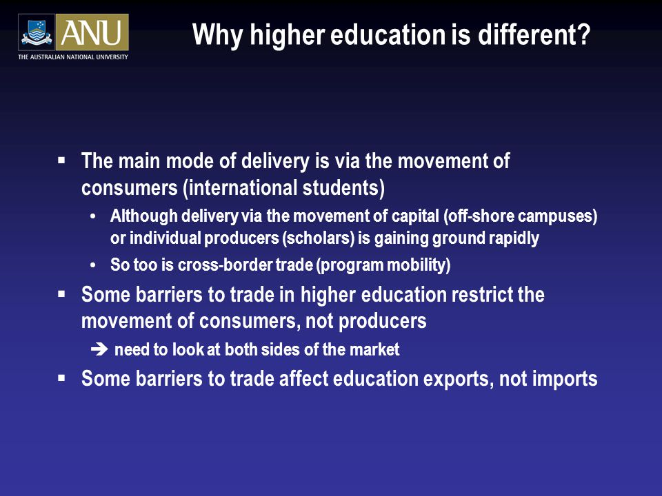 Why higher education is different.