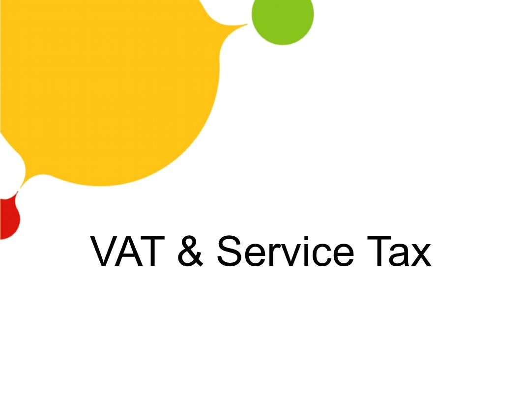 VAT & Service Tax
