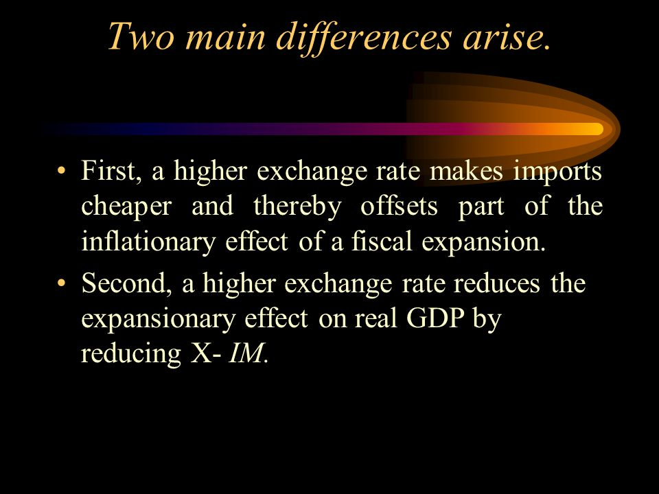 Two main differences arise.